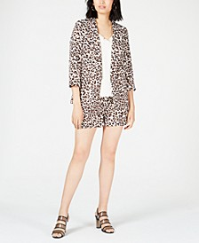 Leopard-Print Jacket, Strappy Blouse & Shorts, Created for Macy's