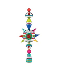 """Christmas Confetti 13"""" Finial Stand With Reflector"""