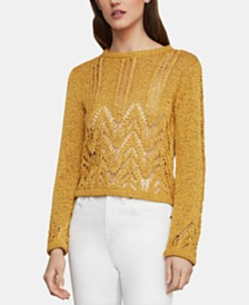 BCBGMAXAZRIA Textured Chevron Sweater
