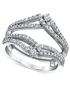Diamond Split-Band Enhancer Ring Guard (5/8 ct. t.w.) in 14k White Gold