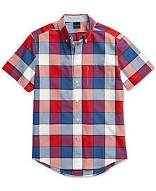 Tommy Hilfiger Adaptive Men's Whalen Plaid Shirt with Magnetic Buttons