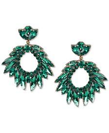 Deepa Crystal Cluster Circle Drop Earrings