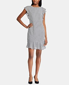 American Living Gingham Georgette Dress