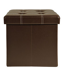 Achim Collapsible Tufted Storage Ottoman