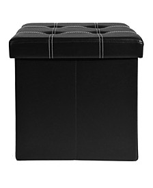 Collapsible Tufted Storage Ottoman