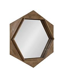 Kate and Laurel Yandel Hexagon Wooden Wall Mirror