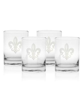 Grand Fleur De Lis Balloon Wine 18Oz - Set Of 4 Glasses