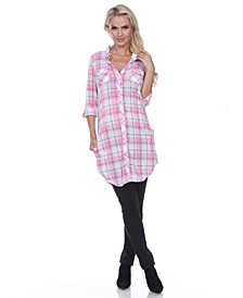 Women's Piper Stretchy Plaid Tunic
