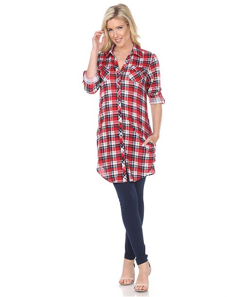 96f82a95ca6 White Mark Women's Piper Stretchy Plaid Tunic; White Mark Women's Piper  Stretchy Plaid ...