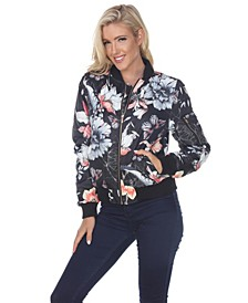 Women's Floral Bomber Jacket