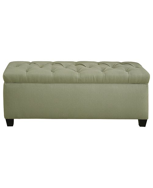 MJL Furniture Designs Sole Secret Dou Button Tufted Shoe Storage Bench