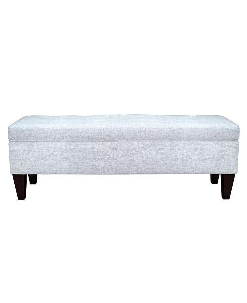 MJL Furniture Designs Brooke Button Tufted Upholstered Storage Ottoman Bench