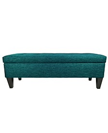 Brooke Button Tufted Upholstered Long Storage Bench