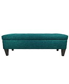 MJL Furniture Designs Brooke Button Tufted Upholstered Long Storage Bench