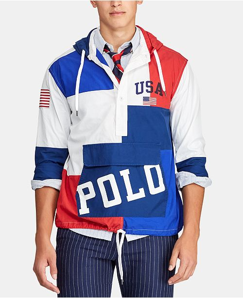 Polo Ralph Lauren Men's Chariots Custom-Fit Hooded Popover
