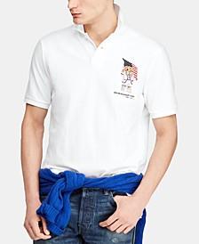 Men's Big & Tall Classic-Fit Bear Mesh Polo Shirt