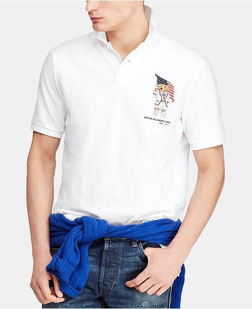 Polo Ralph Lauren Men's Big & Tall Classic-Fit Bear Mesh Polo Shirt