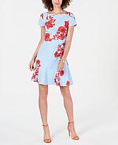 693d2bb926 Adrianna Papell Floral Ruffle-Hem Dress