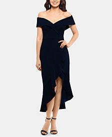 XSCAPE Petite Off-The-Shoulder Midi Dress