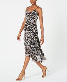 19 Cooper Animal-Print High-Low Dress