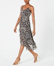 19 Cooper Animal-Print High-Low Dress