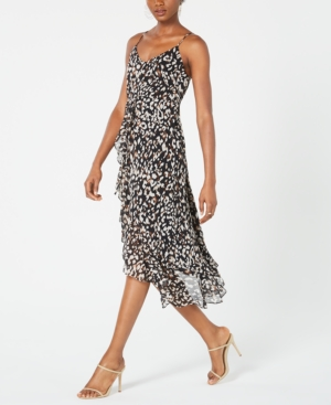 Image of 19 Cooper Animal-Print High-Low Dress