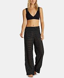 Billabong Juniors' Cotton Striped Wide Leg Pants
