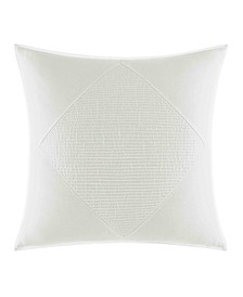 Bronwell Ivory Pieced Pintuck Square Pillow