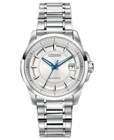 Citizen Men's Automatic Signature Grand Classic Stainless Steel Bracelet Watch 42mm NB0040-58A