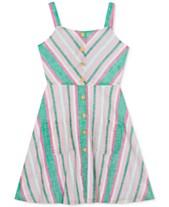 c38cdb31afe48 Rare Editions Big Girls Chevron Striped Cotton Sundress