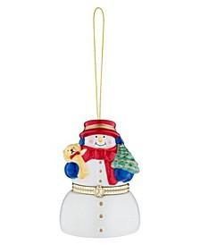 4 Inch Snowman  Porcelain Music Box