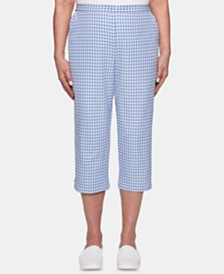 Alfred Dunner The Summer Wind Cotton Pull-On Capri Pants