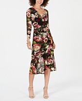 b4ae977525 Connected Wrap Floral Midi Dress