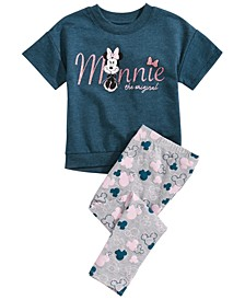 Little Girls 2-Pc. Minnie Mouse Graphic T-Shirt & Printed Leggings Set, Created for Macy's