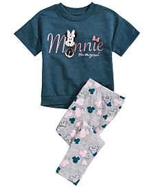 Disney Little Girls 2-Pc. Minnie Mouse Graphic T-Shirt & Printed Leggings Set, Created for Macy's