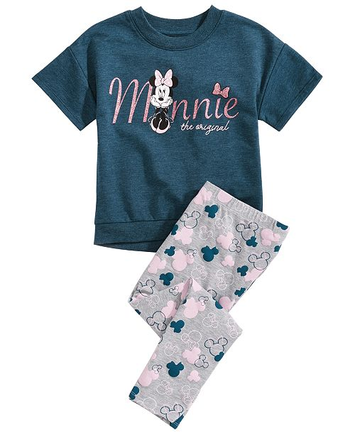 Disney Toddler Girls 2-Pc. Minnie Graphic T-Shirt & Printed Leggings Set, Created for Macy's