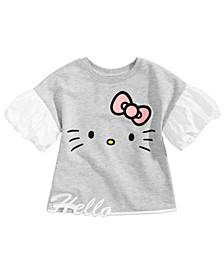 Little Girls Face Graphic Top, Created for Macy's