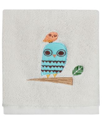 """Towels, Give A Hoot 13"""" Square Washcloth"""