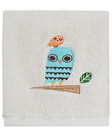 "Creative Bath Towels, Give A Hoot 13"" Square Washcloth"