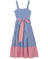 f7ebdaade Rare Editions Big Girls Striped Cotton Maxi Dress
