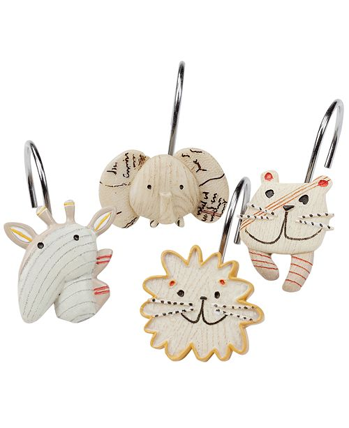 Creative Bath Accessories, Animal Crackers Shower Curtain Hooks
