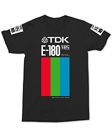 TDK E-180 VHS Men's Graphic T-Shirt