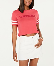 Roxy Juniors' Wondering Why Cropped T-Shirt