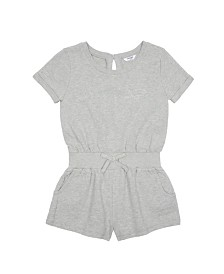 Bebe Girls Knit Romper With Studded Logo
