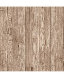 "Brewster Home Fashions Mammoth Lumber Wood Wallpaper - 396"" x 20.5"" x 0.025"""