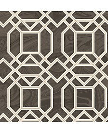 "Brewster Home Fashions Daphne Trellis Wallpaper - 396"" x 20.5"" x 0.025"""