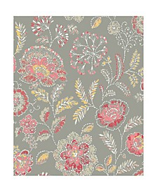 "Tropez Jacobean Wallpaper - 396"" x 20.5"" x 0.025"""