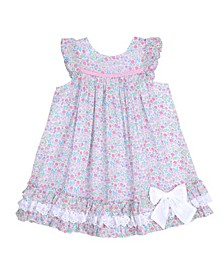 London Little Girls Ruffle Sleeve Party Dress