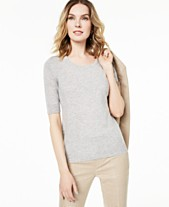 a3d51dd42788bf Charter Club Elbow-Sleeve Cashmere Sweater, Created for Macy's