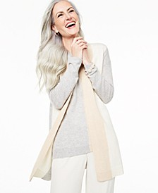 Colorblocked Cashmere Cardigan, Created for Macy's